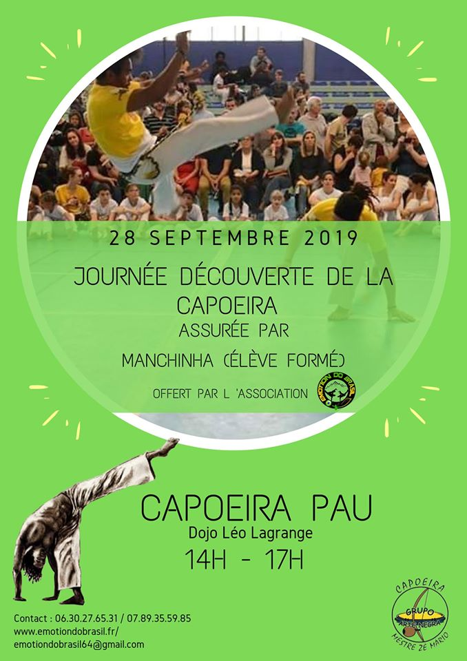 initiation capoeira avec Manchinha
